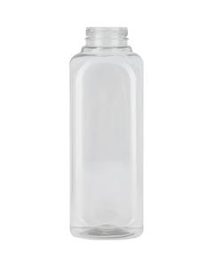 16 oz. Clear PET Plastic IPEC Tamper Evident Square Bottle, 38mm 38-IPEC