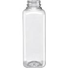 16 oz. Clear PET Plastic Tamper Evident SP Square Bottle, 38mm 358DBJ