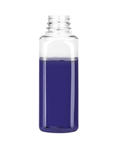 16 oz. Clear PET Plastic Pano Tamper Evident Square Bottle, 38mm 38-PANO