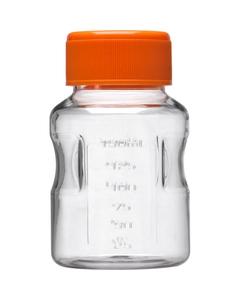 150ml Clear PS Plastic Easy-Grip Media Bottle w/Cap (Corning® #431175)