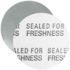 """18mm Foil Pressure Sensitive Liner, """"Sealed for Freshness"""" in Black (Uni-Foam™ PS-F1)"""