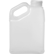 1 Gallon Natural F-Style with Slant Handle HDPE Bottle,63mm 63-445