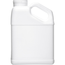 1 Gallon White F-Style with Slant Handle HDPE Bottle, 63mm 63-445