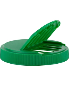 110mm 110-400 Green Slotted Flapper Cap, 5 Slots, Unlined
