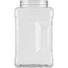 128 oz. Clear PVC Plastic Square Pinch Grip Jar, 110mm 110-400