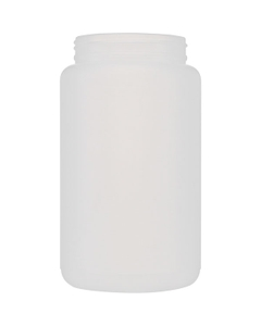2000cc Natural HDPE Plastic Wide Mouth Jar, 100mm 100-400