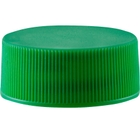 24mm 24-400 Green Ribbed (Matte Top) Plastic Cap w/Foam Liner (3-ply)