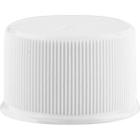 24mm 24-410 White Ribbed (Matte Top) Plastic Cap w/Pressure Sensitive Liner