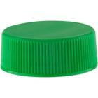 28mm 28-400 Green Ribbed (Matte Top) Plastic Cap w/Foam Liner (3-ply)