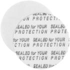 "28mm Pressure Sensitive Liner, ""Sealed for Your Protection"" in Black"