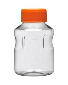 250ml Clear PS Plastic Easy-Grip Media Bottle w/Cap (Corning® #430281)