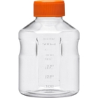 500ml Clear PS Plastic Easy-Grip Media Bottle w/Cap (Corning® #430282)