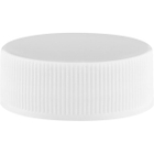 28mm 28-400 White Ribbed (Smooth Top) Plastic Cap w/PS22 Liner (Printed)