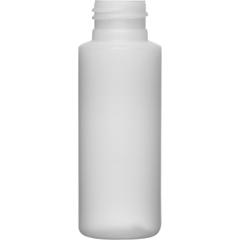 2 oz. Natural HDPE Plastic Cylinder Bottle, 24mm 24-410
