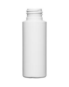 2 oz. AMC 24mm 24-410 White HDPE Cylinder Bottle