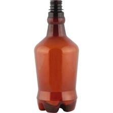 32 oz. Amber PET Plastic Growler Bottle, 28mm PCO-1810
