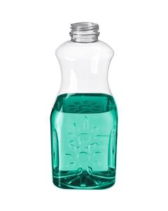 32 oz. Clear PET Plastic Tamper Evident Juice Bottle, 38mm 358DBJ