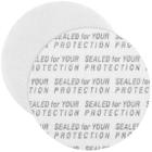 "33mm Pressure Sensitive Liner, ""Sealed for Your Protection"" in Black"