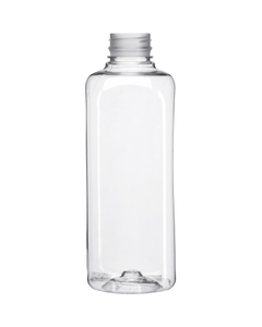 32 oz. Clear PET Plastic Pano Tamper Evident Square Bottle, 38mm 38-PANO
