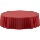 38mm 38-400 Red Ribbed (Matte Top) Plastic Cap, Unlined