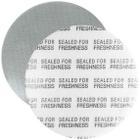 """38mm Foil Pressure Sensitive Liner, """"Sealed for Freshness"""" in Black (Uni-Foam™ PS-F1)"""