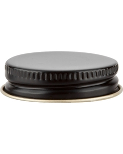 38mm 38-400 Black/Gold Metal Cap with Plastisol Liner