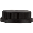 38mm 38-400 Black HDPE Tamper Evident Ratchet Cap, Unlined