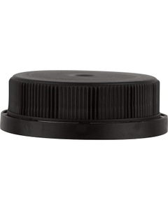 38mm 38-400 Black Tamper Evident Ratchet Cap with Heat Induction Liner for HDPE