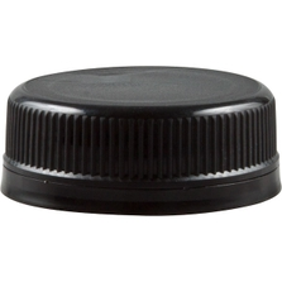 358DBJ 38mm Black Tamper Evident Plastic Cap