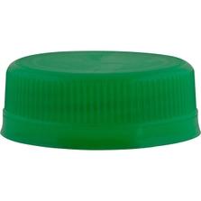 358DBJ 38mm Green Tamper Evident Plastic Cap
