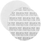 "43mm Pressure Sensitive Liner, ""Sealed for Your Protection"" in Black"