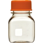 150ml Clear Polycarbonate Plastic Square Media Bottle w/Cap (Corning® #431430)
