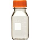 250ml Clear Polycarbonate Plastic Square Media Bottle w/Cap (Corning® #431431)