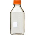 1L Clear Polycarbonate Plastic Square Media Bottle w/Cap (Corning® #431433)