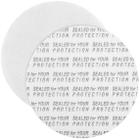 "48mm Pressure Sensitive Liner, ""Sealed for Your Protection"" in Black"