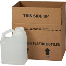 1 Gallon Natural F-Style with Slant Handle HDPE Bottle, 63mm 63-445, 4x1 Reshipper Box