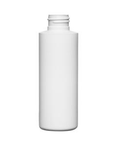 4 oz 24mm 24-410 White HDPE Cylinder Bottle, 12 Gram, 468/Box