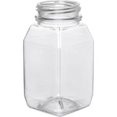 4 oz. Clear PET Plastic Tamper Evident WH Square Bottle, 38mm 358DBJ