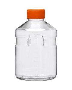 1L Clear PS Plastic Easy-Grip Media Bottle w/Cap (Corning® #430518)