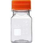 125ml Clear PET Plastic Square Media Bottle w/Cap (Corning® #431530)