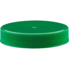 53mm 53-400 Green Ribbed (Smooth Top) Plastic Cap w/Foam Liner (3-ply)