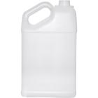 1.25 Gallon Natural HDPE Plastic Slant F-Style Bottle, 38mm 38-400