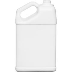 1.25 Gallon White HDPE Plastic Slant F-Style Bottle, 38mm 38-400