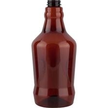 64 oz. Amber PET Plastic Growler Bottle, 38mm M38-400