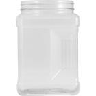 64 oz. Clear Square Pinch Grip PVC Jar, 110mm 110-400