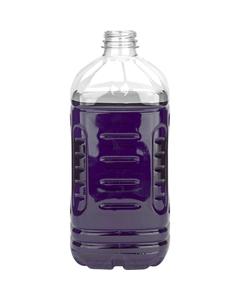 64 oz. Clear PET Plastic Square Pinch Grip Bottle, 38mm 358DBJ