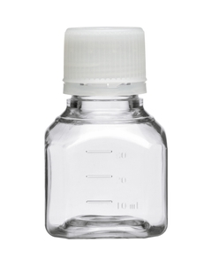 30ml Clear PET Plastic Octagonal Media Bottle w/Cap, Sterile (Corning® #431729)