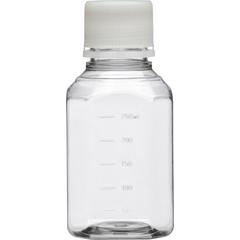 250ml Clear PET Plastic Octagonal Media Bottle w/Cap, Sterile (Corning® #431732)