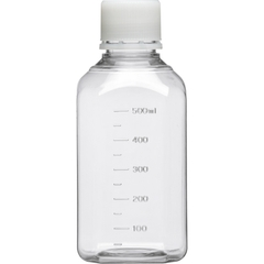 500ml Clear PET Plastic Octagonal Media Bottle w/Cap, Sterile (Corning® #431733)