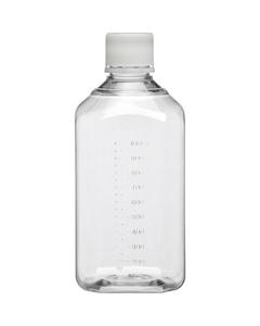 1L Clear PET Plastic Octagonal Media Bottle w/Cap, Sterile (Corning® #431734)
